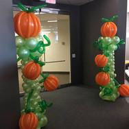 Pumpkin Balloon Columns.