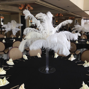 White Feather Centerpiece