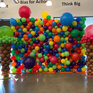 Candy ThemedBalloon Wall