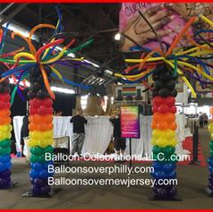 Pride Balloon Columns