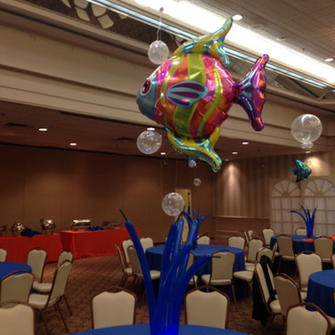 Under the sea centerpiece.