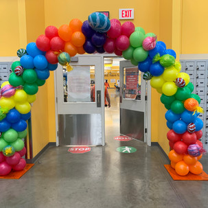 Candy Themed Balloon Arch