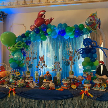 Organic Balloon Garland Backdrop.