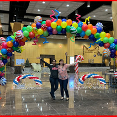 Candy Themed Organic balloon arch