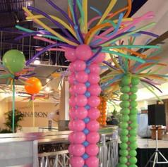 Columns with balloon fireworks.