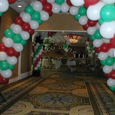 Balloon Arches Line the Hallway