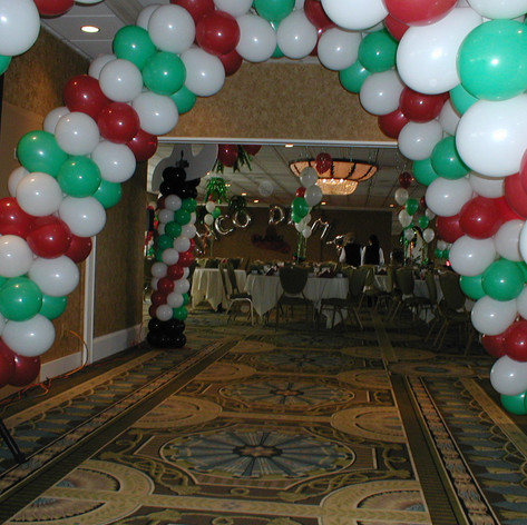 Balloon Arches Line the Hallway