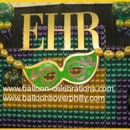 Mardi Gras Balloon Wall.