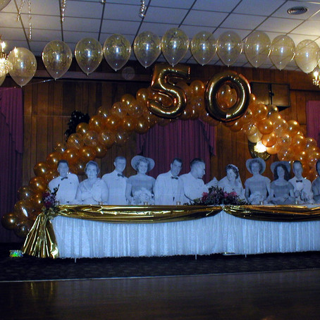 50th Anniversary balloon arch