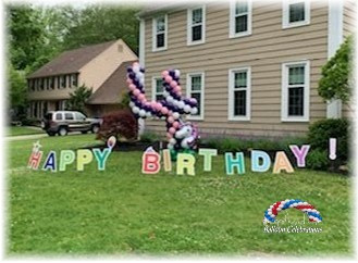 Yard Art Balloon Decor