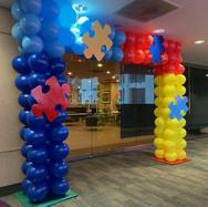 Autism Balloon Arch