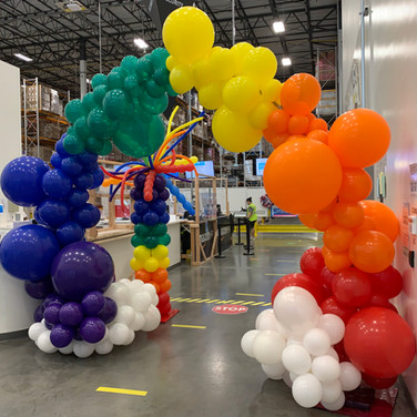Organic Balloon Arch for Pride  week at Amazon