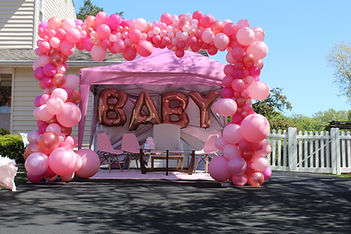 Organic arch for baby shower in Cherry H