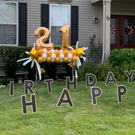 Birthday Yard decor