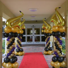 Music Themed Balloon Columns