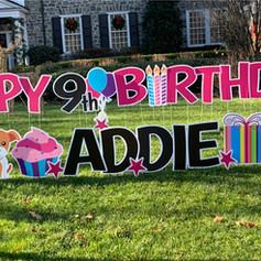 Happy Birthday Addie