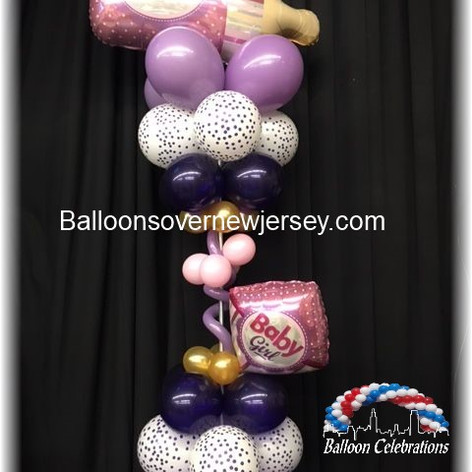 Baby Bottle balloon Centerpiece.