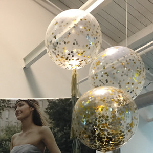 Big Balloon with glitter