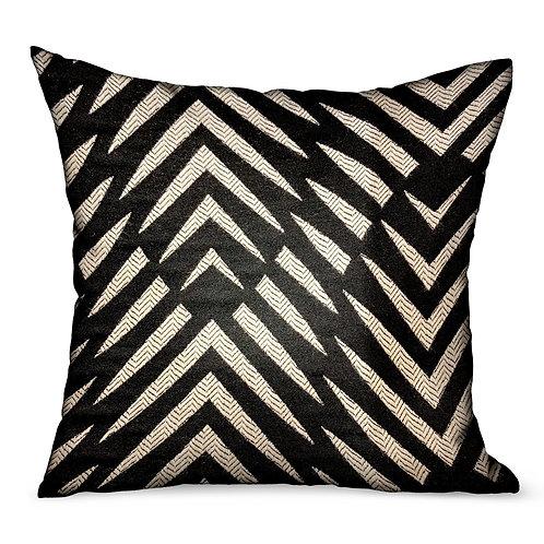Raven Palm Black Geometric Luxury Outdoor/Indoor Throw Pillow