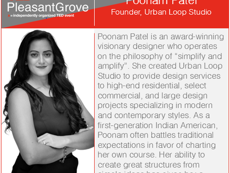 Poonam Patel joins TEDx