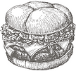 Photo of a buger, click for LUNCH Specials menu