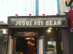 Front of bar, new sign