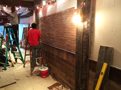 Brick going up on wall