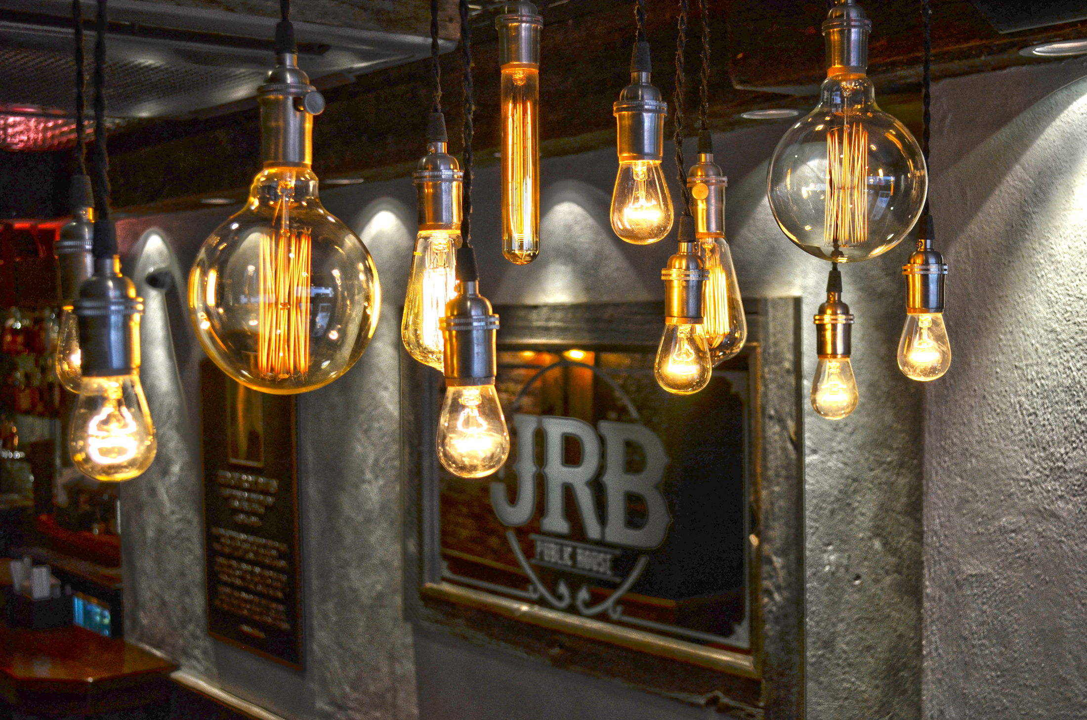 Front Rustic Lighting, Edison Bulbs
