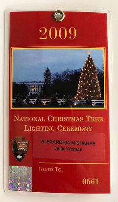 National Christmas Tree Lighting Ceremony ID Pass