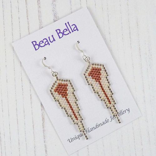 Copper & Silver Guardian Angel Wing Earrings