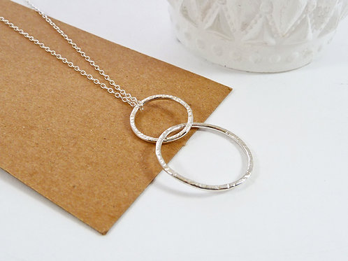 Long Circles Eternity Necklace in Sterling Silver