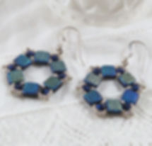 blue pattern hexagon earrings 4 cropped.