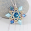 Thumbnail: Turquoise Beaded Flower Pendant Necklace with Swarovski Crystal