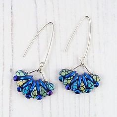 long blue dangle fan earrings.jpg