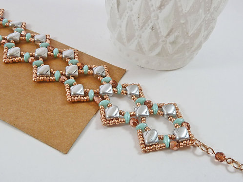 Rose Gold Lace Style Cuff Bracelet