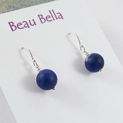 Sterling Silver Blue Sodalite Earrings