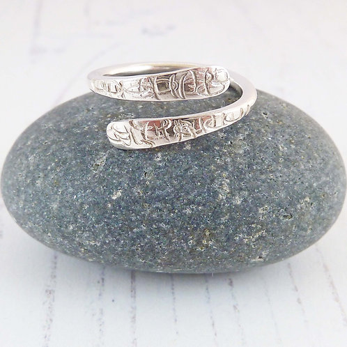 Textured Silver Wrap Ring