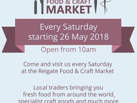 New Artisan Food and Craft Market in Reigate!