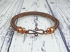 brown and copper viking knit bracelet.jp