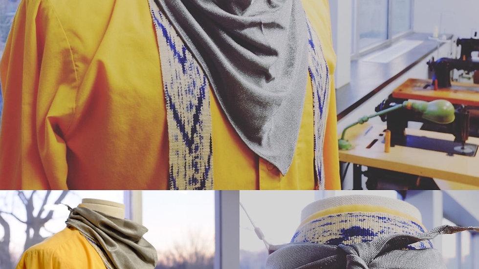 Silver Bandana, pure Silver fabric Gaiter, Mask and Headband EMF Protection