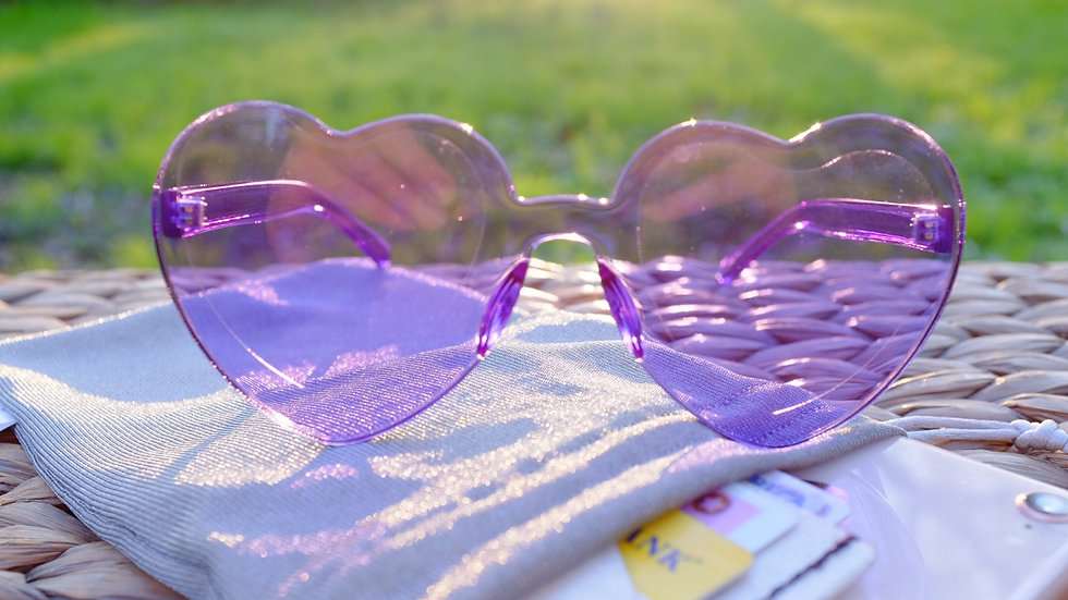 Heart Glasses Colorful Mood Sunnies Heart Shape Sunglasses for emotional support