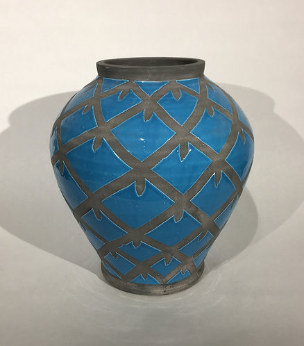 Blue and Grey Urn