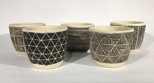 Small Ceramic Santa Fe Decorative Pots