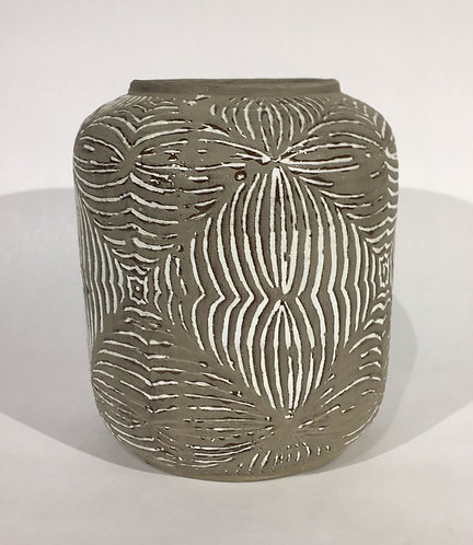 Grey and White Ceramic Pot