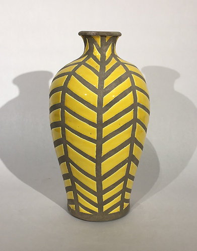 Silhouette Vase Yellow and Grey