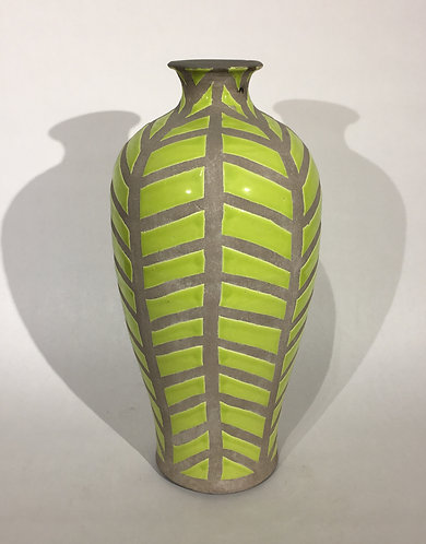 Silhouette Vase Green and Grey