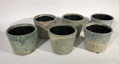 Rustic Patina Ceramic Decorative Pots