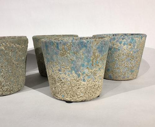 Rustic Patina Ceramic Decorative Pots