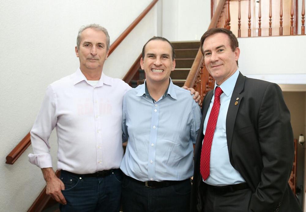 Major Rubin, Prefeito Ricardo Salaro e Deputado Coronel Camilo