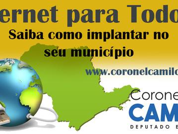 Coronel Camilo apoia o programa Internet para Todos
